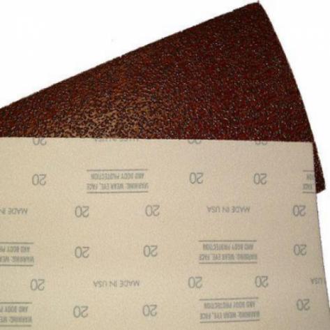 8 Inch x 17-5/8 Inch Hook and Loop Floor Sanding Sheets