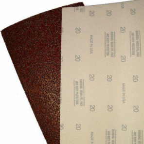 12 Inch x 18 Inch Floor Sanding Sheets - Gripping Grit on Top